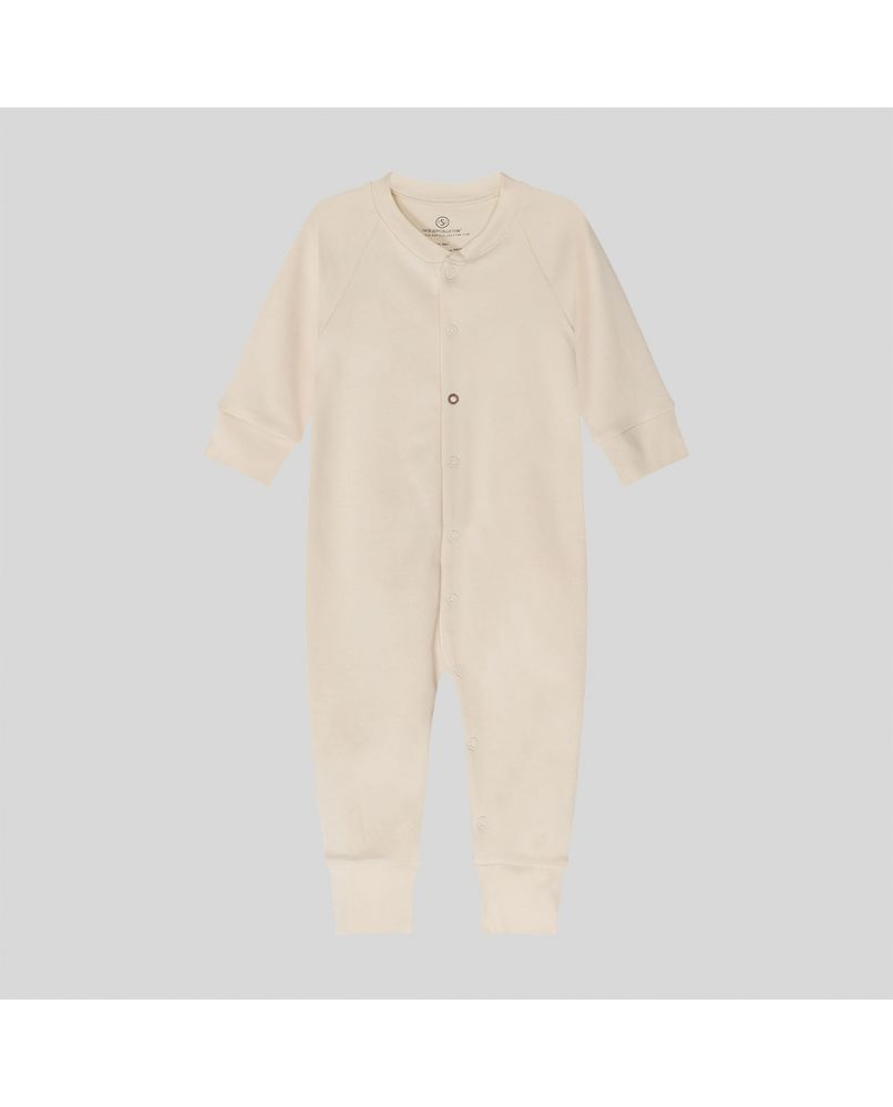 baby sleepsuit in natural and organic pima cotton