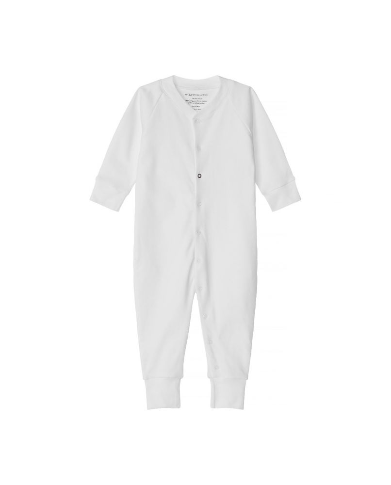 Baby Sleepsuit in white from The Sleepy Collection